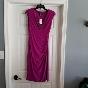 Ralph Lauren Dress Sz 4 Rushing Magenta Sleeveless